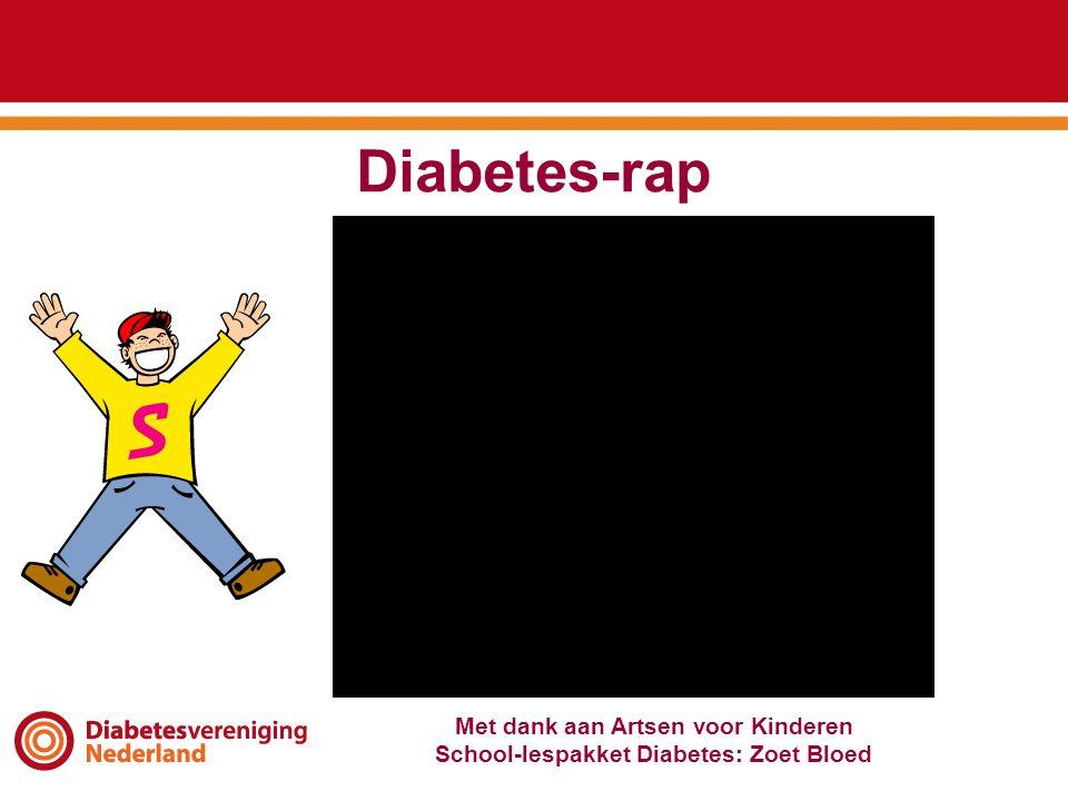 Diabetes-rap Met dank aan Artsen voor Kinderen School-lespakket Diabetes: Zoet Bloed