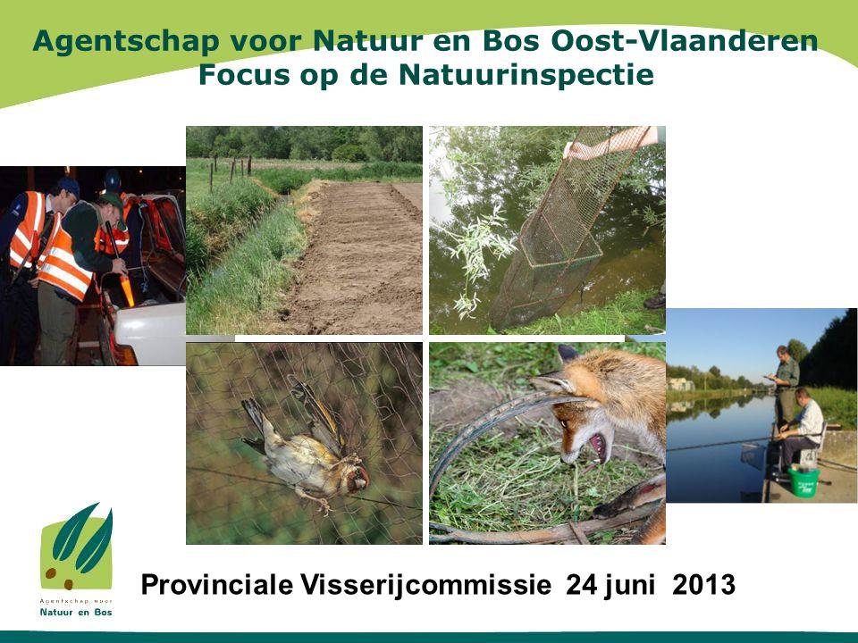 Agentschap voor Natuur en Bos Oost-Vlaanderen Focus op de Natuurinspectie Algemene vergadering Provinciale Visserijcommissie 24 juni 2013