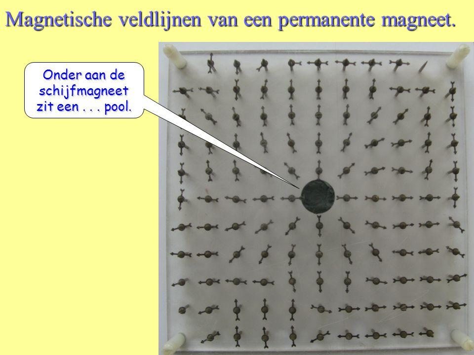 Magnetische veldlijnen van een permanente magneet. N Z