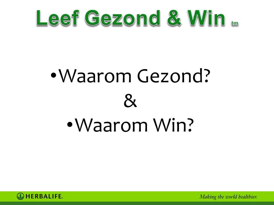 • Waarom Gezond? & • Waarom Win?