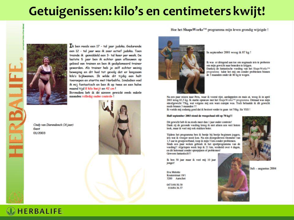 Getuigenissen: kilo's en centimeters kwijt!