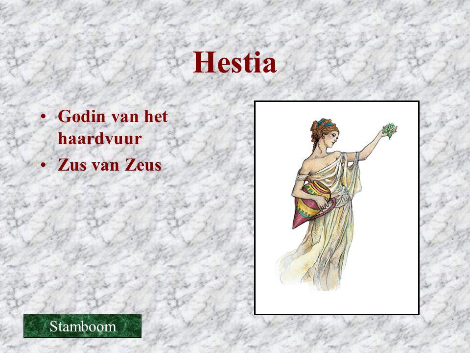 Hestia •Godin van het haardvuur •Zus van Zeus Stamboom