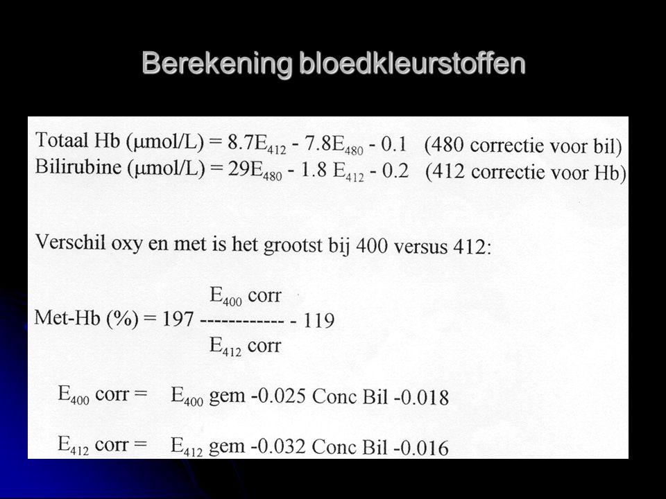 Berekening bloedkleurstoffen