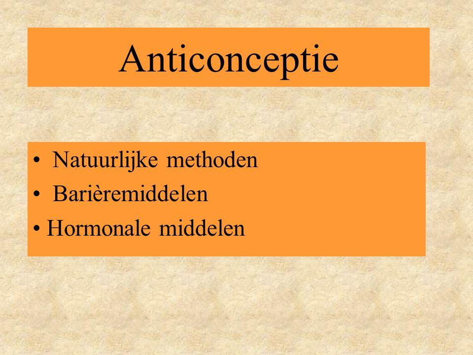 Anticonceptie • Natuurlijke methoden • Barièremiddelen • Hormonale middelen