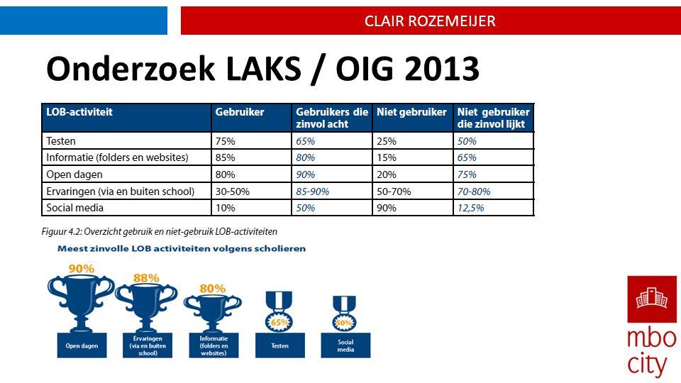 CLAIR ROZEMEIJER Onderzoek LAKS / OIG 2013