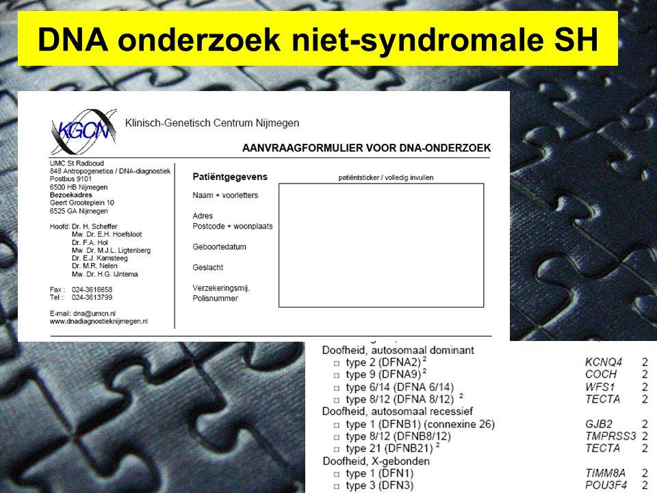 DNA onderzoek niet-syndromale SH