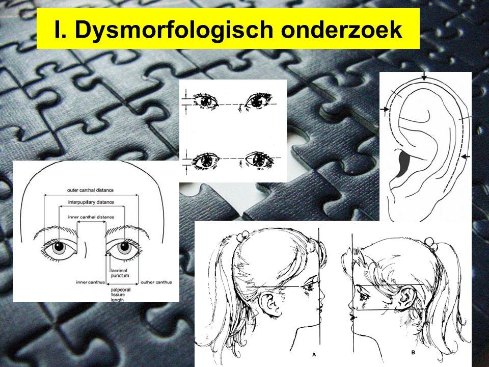 I. Dysmorfologisch onderzoek