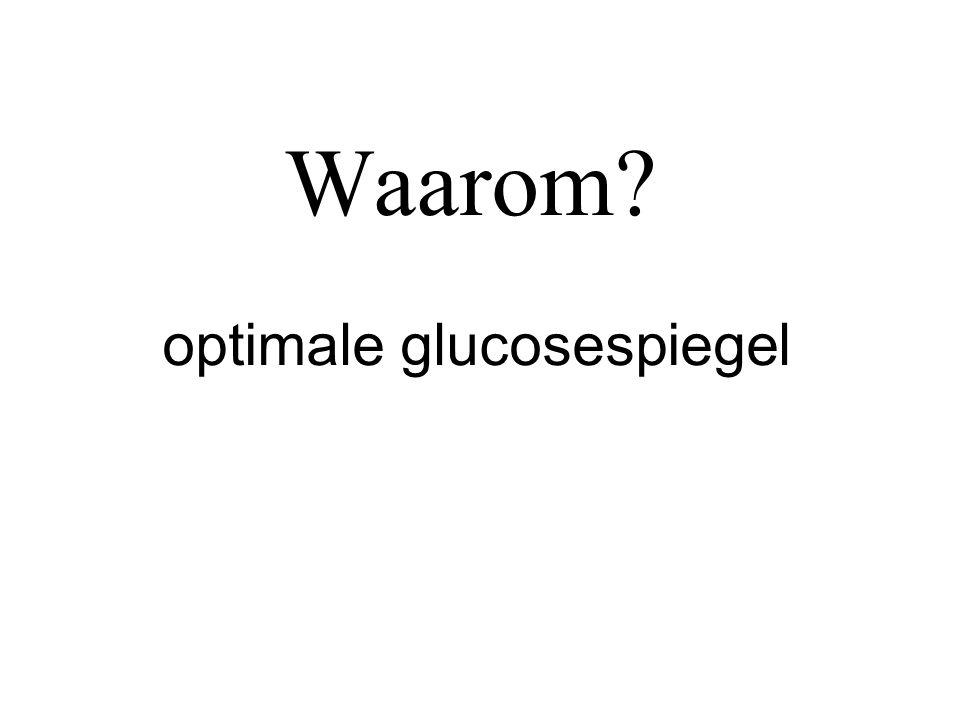 Waarom? optimale glucosespiegel