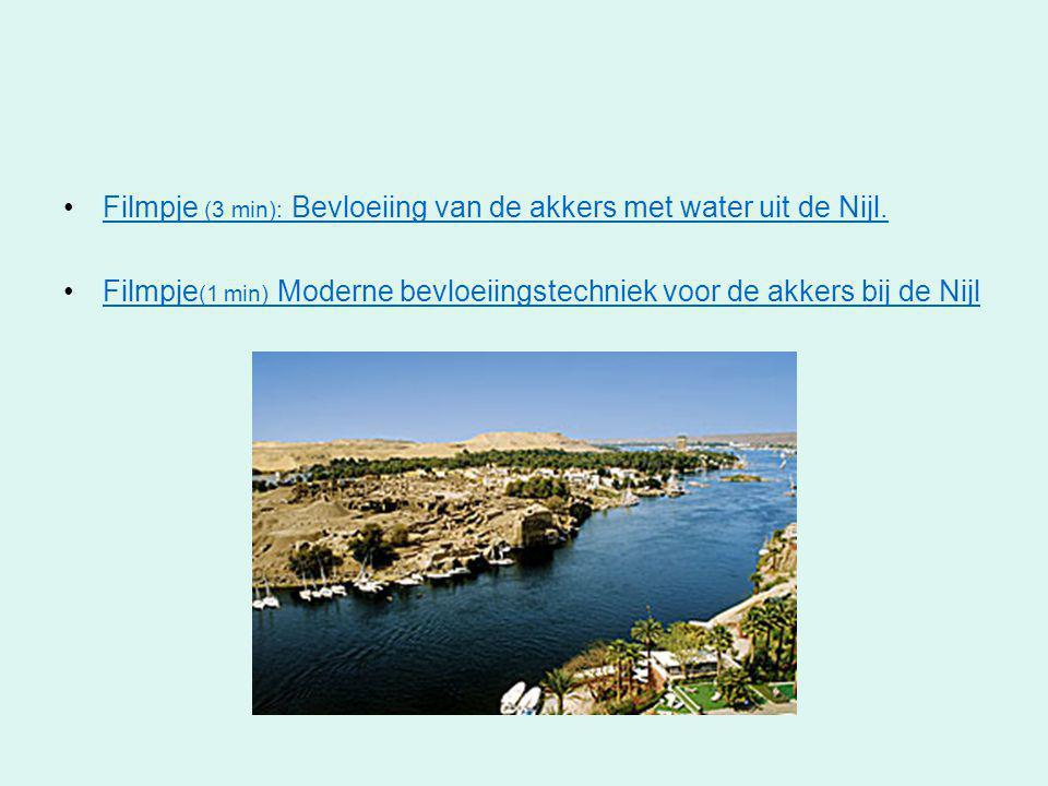 •Filmpje (3 min): Bevloeiing van de akkers met water uit de Nijl.Filmpje (3 min): Bevloeiing van de akkers met water uit de Nijl. •Filmpje (1 min) Mod