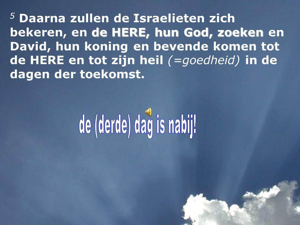 twee dagen van duizend jaar Israël is * gekocht * afgezonderd * zonder koning * zonder offer * zonder monument * zonder hogepriester * zonder afgoderij
