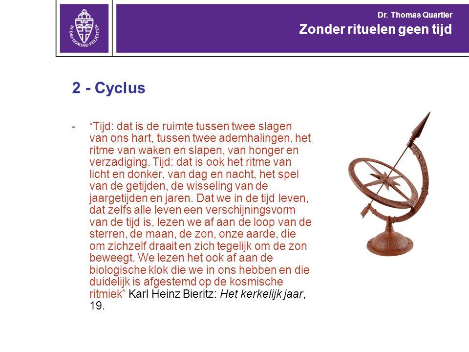 2 - Cyclus - De kring heeft geen begin en geen einde.