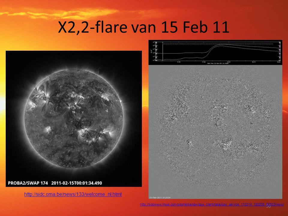 X2,2-flare van 15 Feb 11 50 http://sidc.oma.be/news/133/welcome_nl.html http://sdowww.lmsal.com/sdomedia/ssw/ssw_client/data/ssw_service_110214_180206