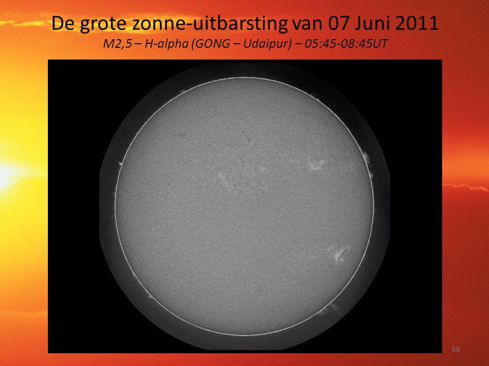 De grote zonne-uitbarsting van 07 Juni 2011 M2,5 – H-alpha (GONG – Udaipur) – 05:45-08:45UT 59