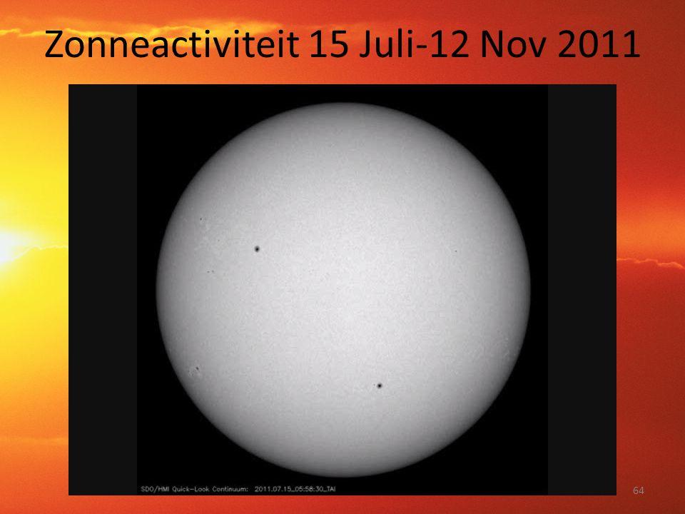 Zonneactiviteit 15 Juli-12 Nov 2011 64