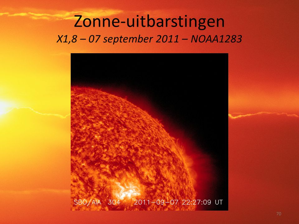 Zonne-uitbarstingen X1,8 – 07 september 2011 – NOAA1283 70