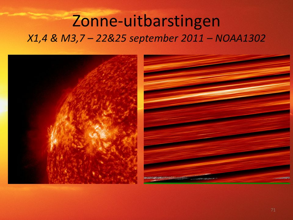 Zonne-uitbarstingen X1,4 & M3,7 – 22&25 september 2011 – NOAA1302 71