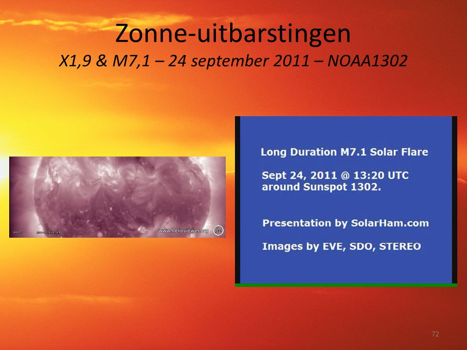 Zonne-uitbarstingen X1,9 & M7,1 – 24 september 2011 – NOAA1302 72
