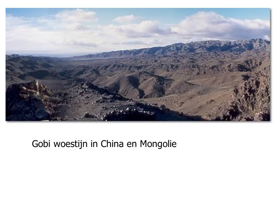 Gobi woestijn in China en Mongolie