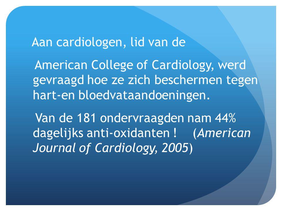 Aan cardiologen, lid van de American College of Cardiology, werd gevraagd hoe ze zich beschermen tegen hart-en bloedvataandoeningen. Van de 181 onderv