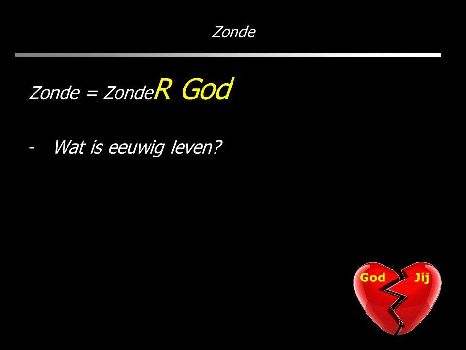 Zonde Zonde = Zonde R God -Wat is eeuwig leven?
