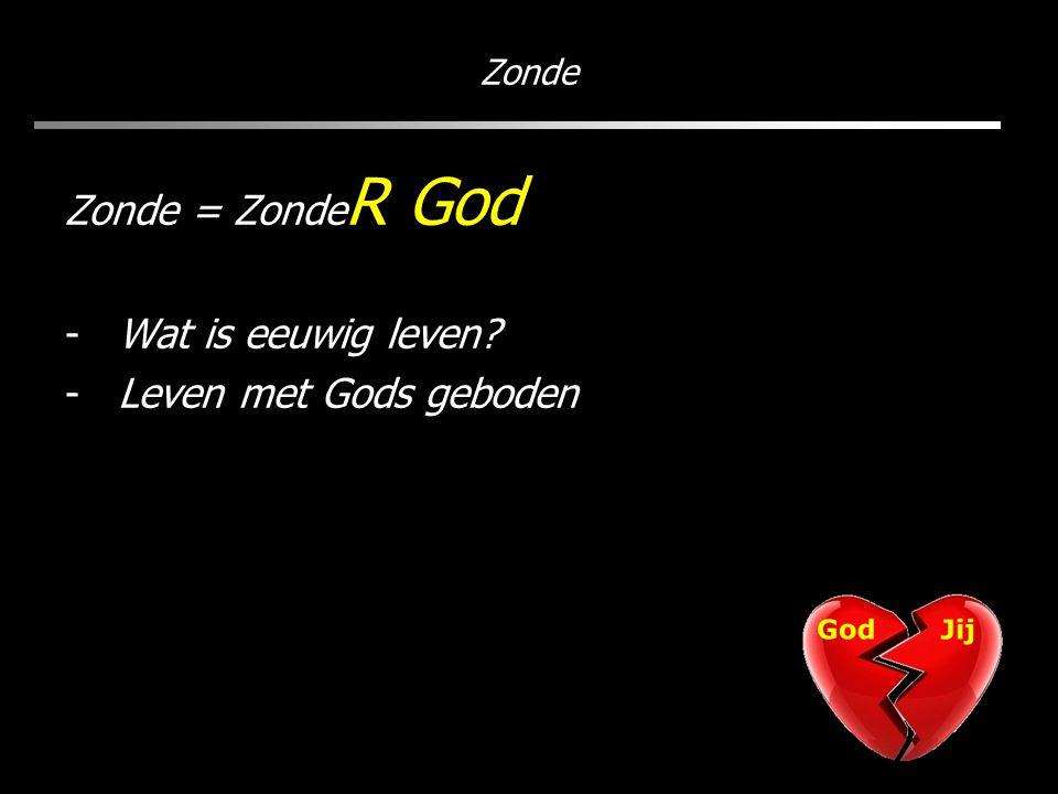 Zonde Zonde = Zonde R God -Wat is eeuwig leven? -Leven met Gods geboden