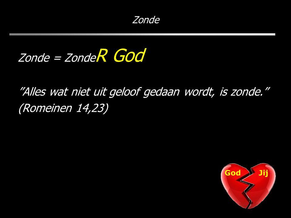 Zonde Zonde = Zonde R God Alles wat niet uit geloof gedaan wordt, is zonde. (Romeinen 14,23)