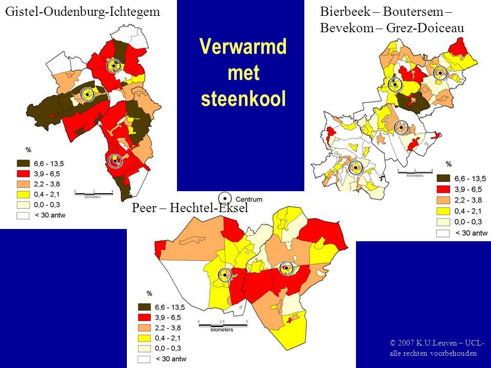 Verwarmd met steenkool Gistel-Oudenburg-IchtegemBierbeek – Boutersem – Bevekom – Grez-Doiceau Peer – Hechtel-Eksel © 2007 K.U.Leuven – UCL- alle rechten voorbehouden