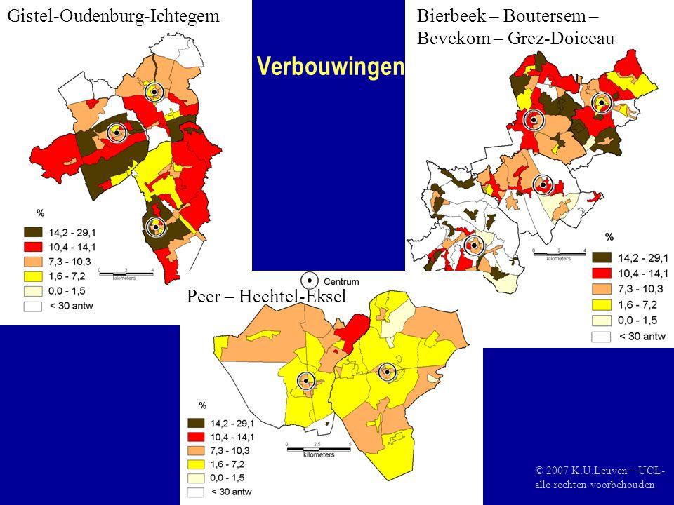 Verbouwingen Gistel-Oudenburg-IchtegemBierbeek – Boutersem – Bevekom – Grez-Doiceau Peer – Hechtel-Eksel © 2007 K.U.Leuven – UCL- alle rechten voorbehouden