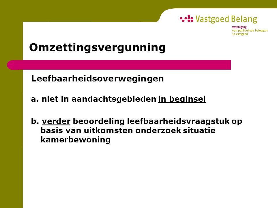Omzettingsvergunning Zwakten in de regeling a.puntenprijs onwettige eis.