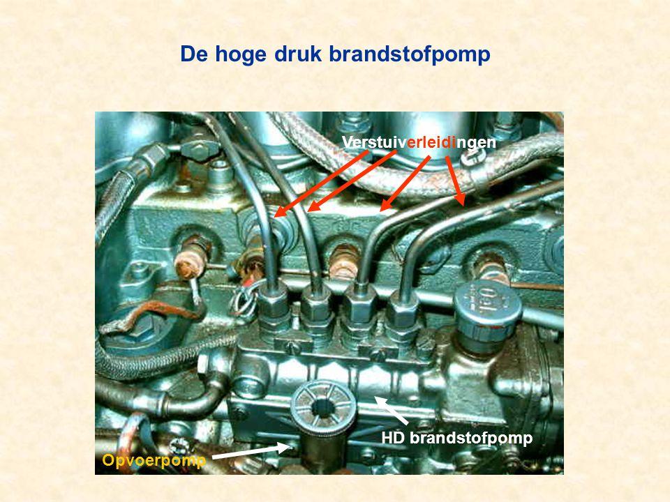 De hoge druk brandstofpomp Verstuiverleidingen HD brandstofpomp Opvoerpomp