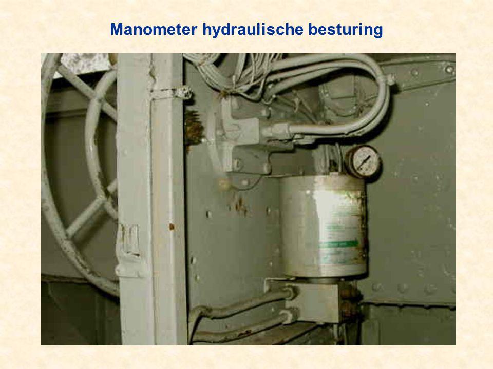 Manometer hydraulische besturing