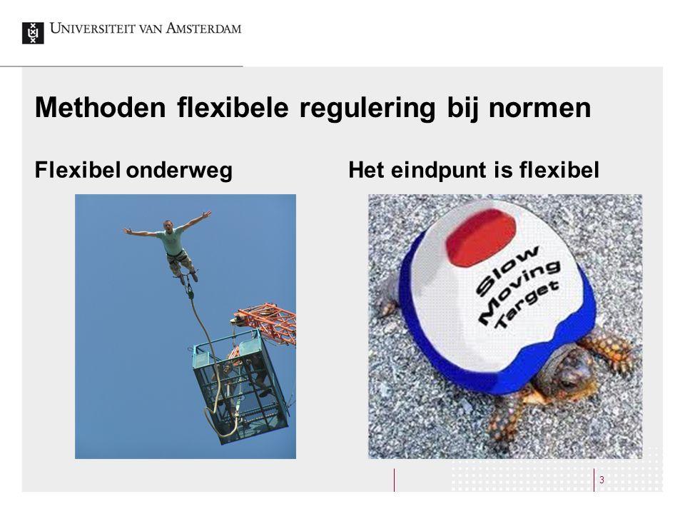 Methoden flexibele regulering bij normen Flexibel onderwegHet eindpunt is flexibel 3