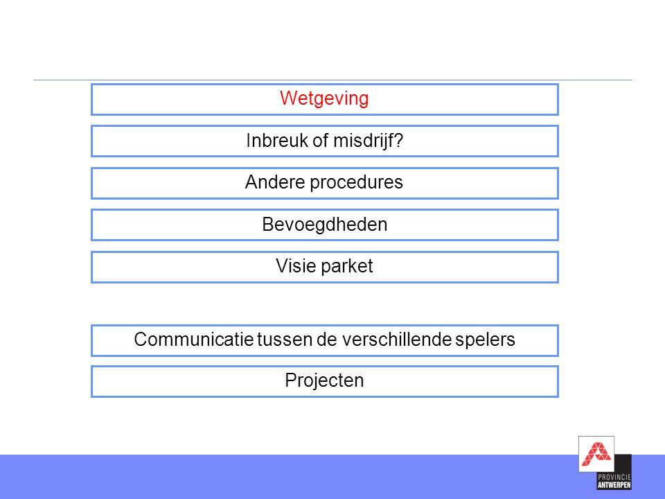 •Verslag van vaststelling wordt opgemaakt  Model vastgelegd in een ministerieel besluit  Voorbeelddocument rondgestuurd via mail 'nieuws over milieuhandhaving' •Verstuurd naar de gewestelijke entiteit LNE - Afdeling milieuhandhaving, milieuschade en crisisbeheer Koning Albert II-laan 20 bus 8 - 1000 Brussel •Boete (+ eventueel voordeelontneming) wordt aan overtreder opgelegd •Beroep mogelijk bij het milieuhandhavingscollege (http://www.mhhc.be) •Toezichthouder wordt geïnformeerd over gevolg dat werd gegeven aan verslag van vaststelling Administratieve aanpak inbreuk