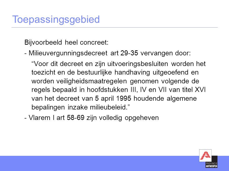 Communicatie tussen de partners •Regiowerking: regio's (3x/jaar)  provincie – gemeentelijke milieudiensten  ook info via ezine •PIH: gerechtelijke arrondissementen (4x/jaar)  provincie – politiediensten (lokale en federale) – parket  ook info via 'nieuws over milieuhandhaving' •Parket Antwerpen (3x/jaar)  parket – MI, OVAM – lokale politie – federale politie •Parket Mechelen (1x/jaar)  provincie – parket – gemeentelijke milieudiensten ivm project regularisatie