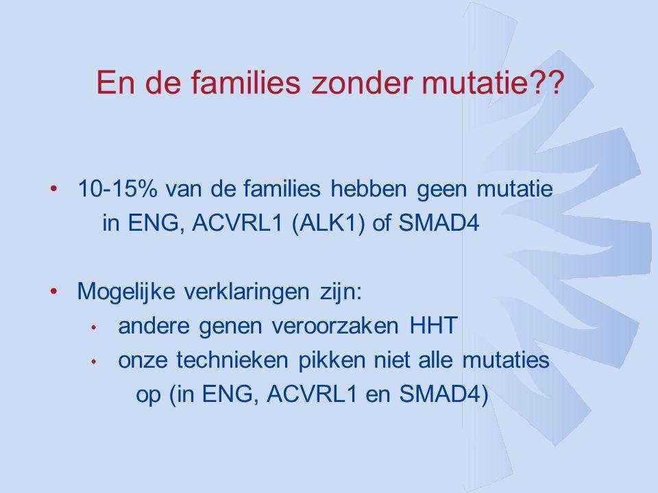 En de families zonder mutatie?.
