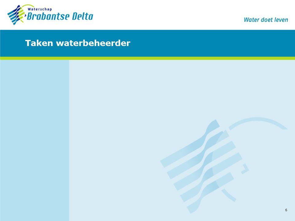 6 Taken waterbeheerder