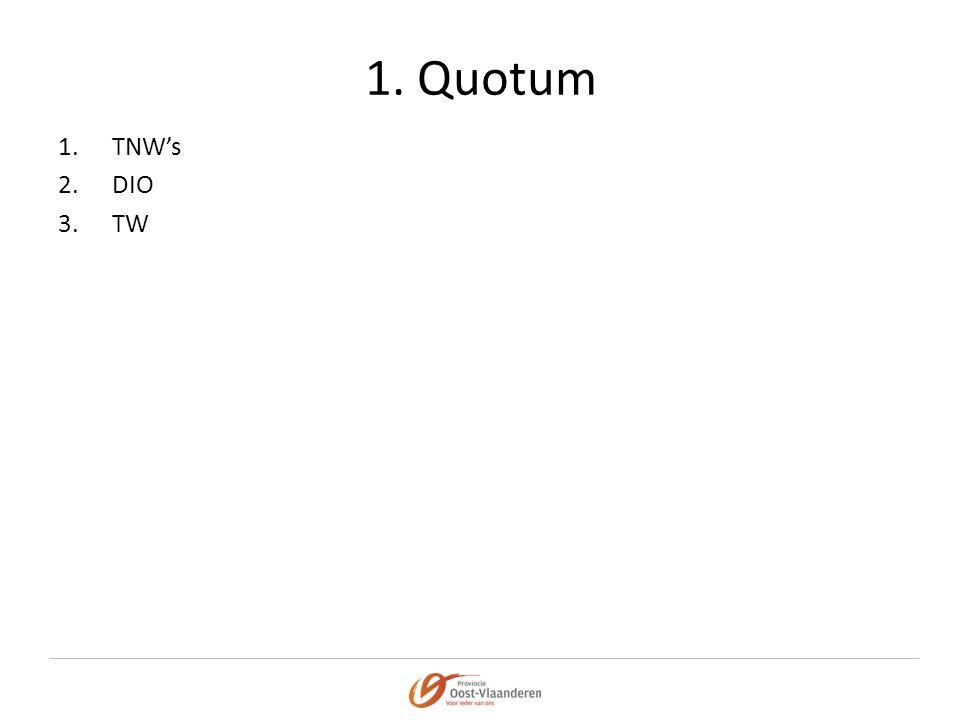 1. Quotum 1.TNW's 2.DIO 3.TW