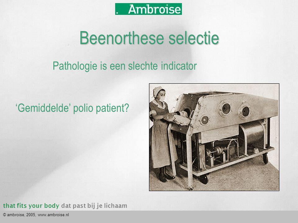 that fits your bodydat past bij je lichaam © ambroise, 2005, www.ambroise.nl 'Gemiddelde' MS patient.