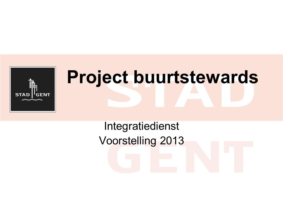 Project buurtstewards Integratiedienst Voorstelling 2013