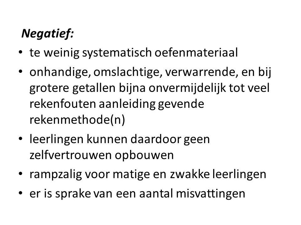 Modern rekenen (voorbeeld 1):