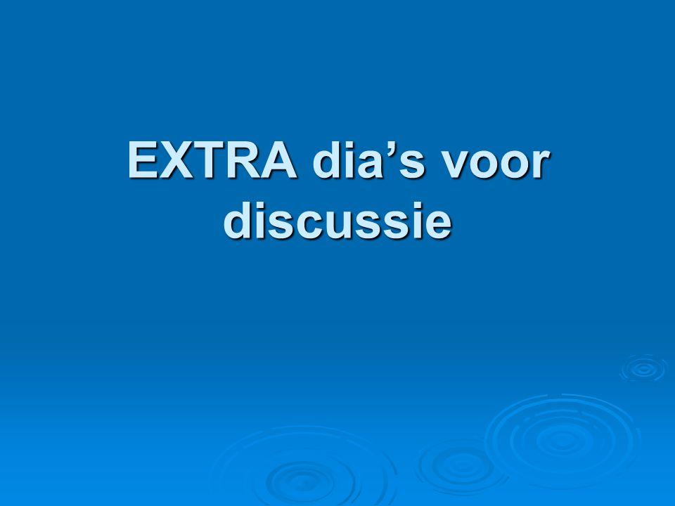 EXTRA dia's voor discussie