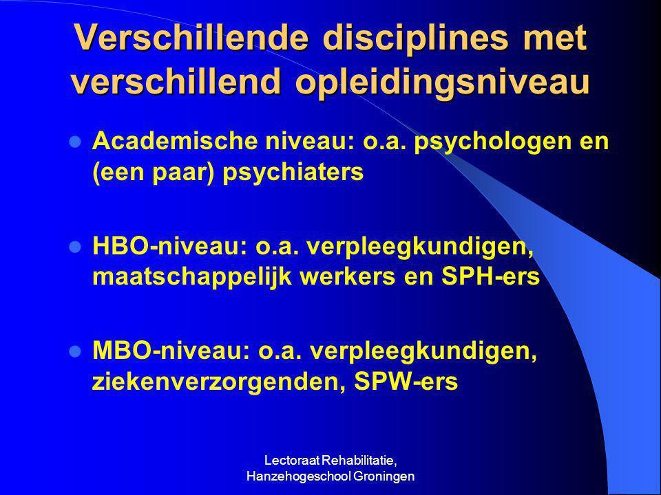 Lectoraat Rehabilitatie, Hanzehogeschool Groningen IRB-onderwijs in het HBO