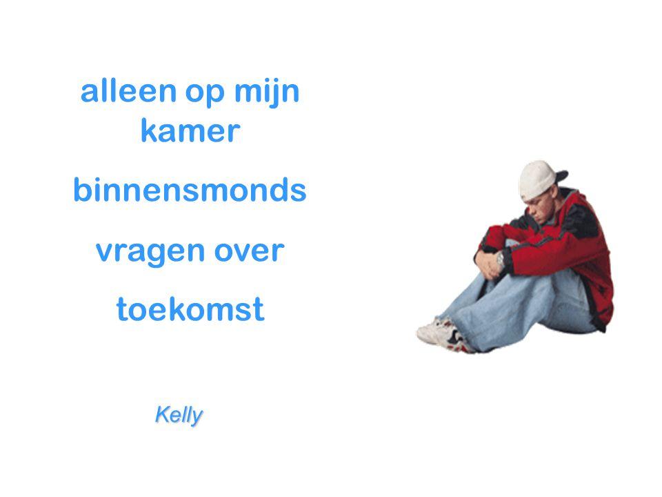 alleen op mijn kamer binnensmonds vragen over toekomst Kelly Kelly
