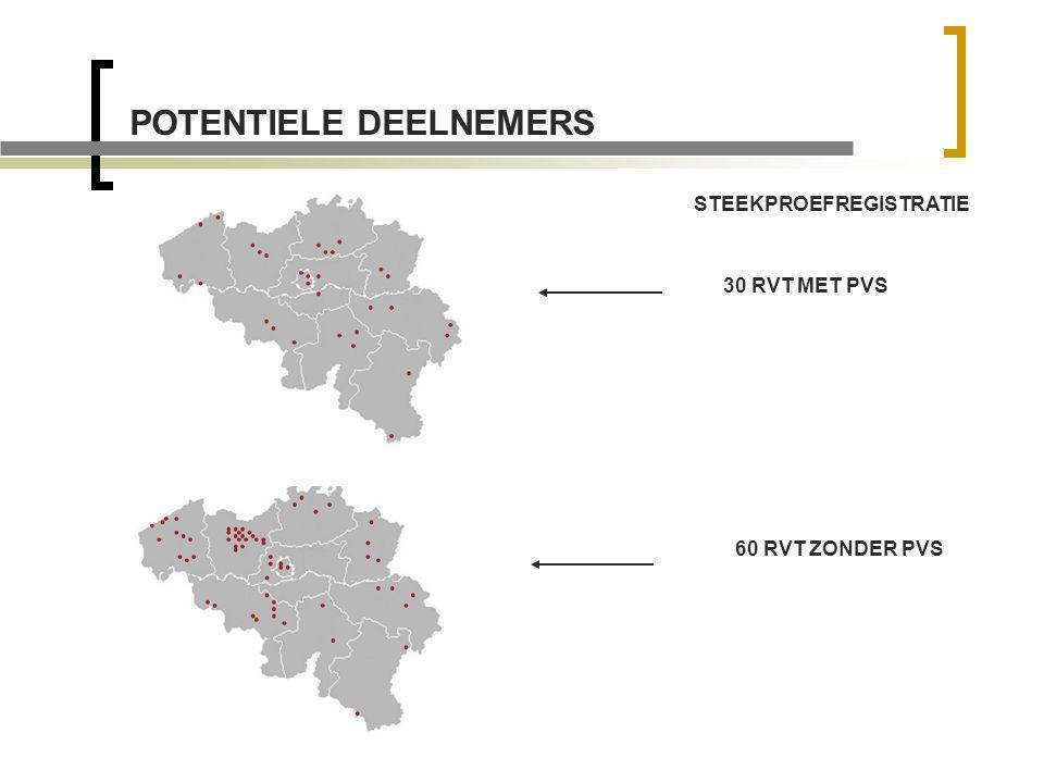 POTENTIELE DEELNEMERS STEEKPROEFREGISTRATIE 30 RVT MET PVS 60 RVT ZONDER PVS