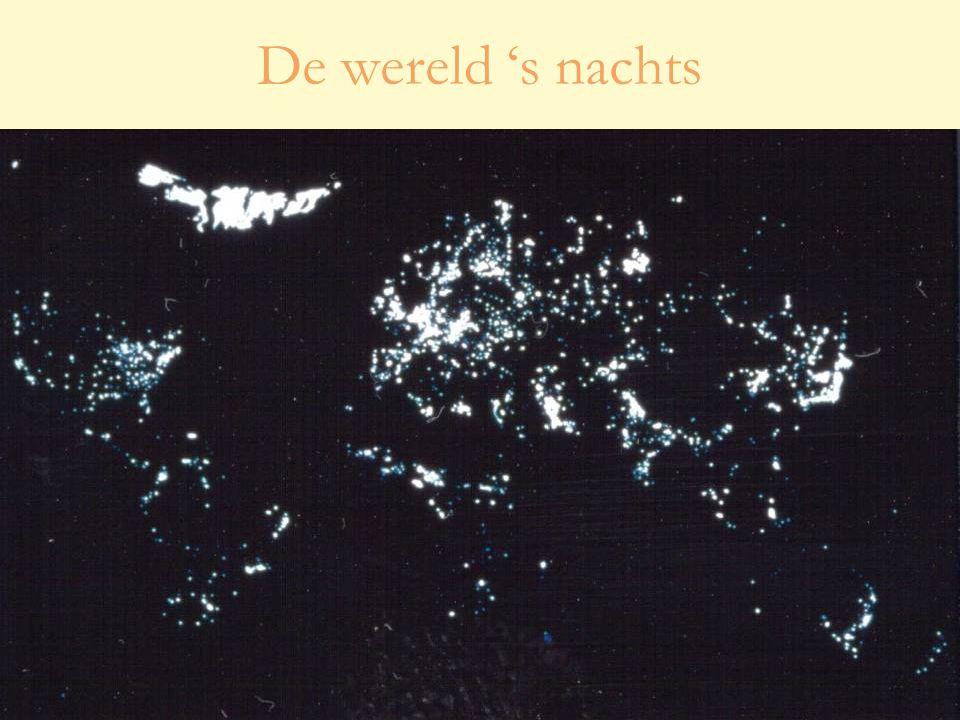 28 oktober 20102 Studiedag 'Lichthinder – effecten en oplossingen' De wereld 's nachts