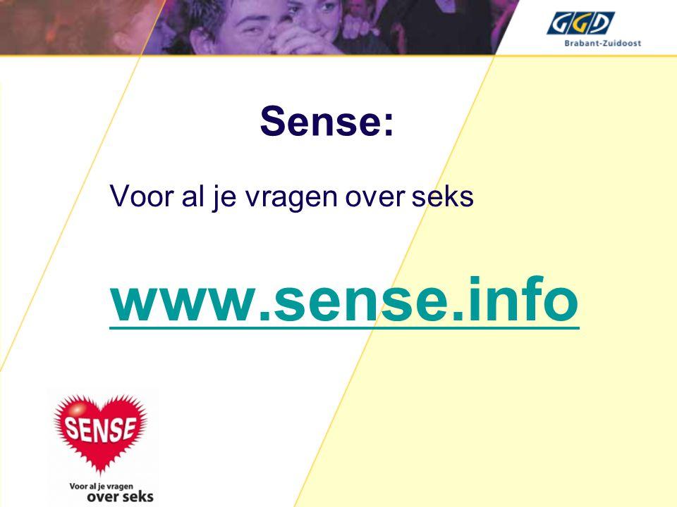 Sense: Voor al je vragen over seks www.sense.info