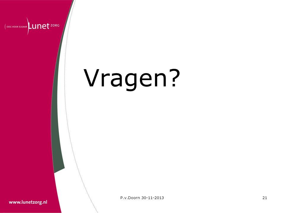 P.v.Doorn 30-11-201321 Vragen?