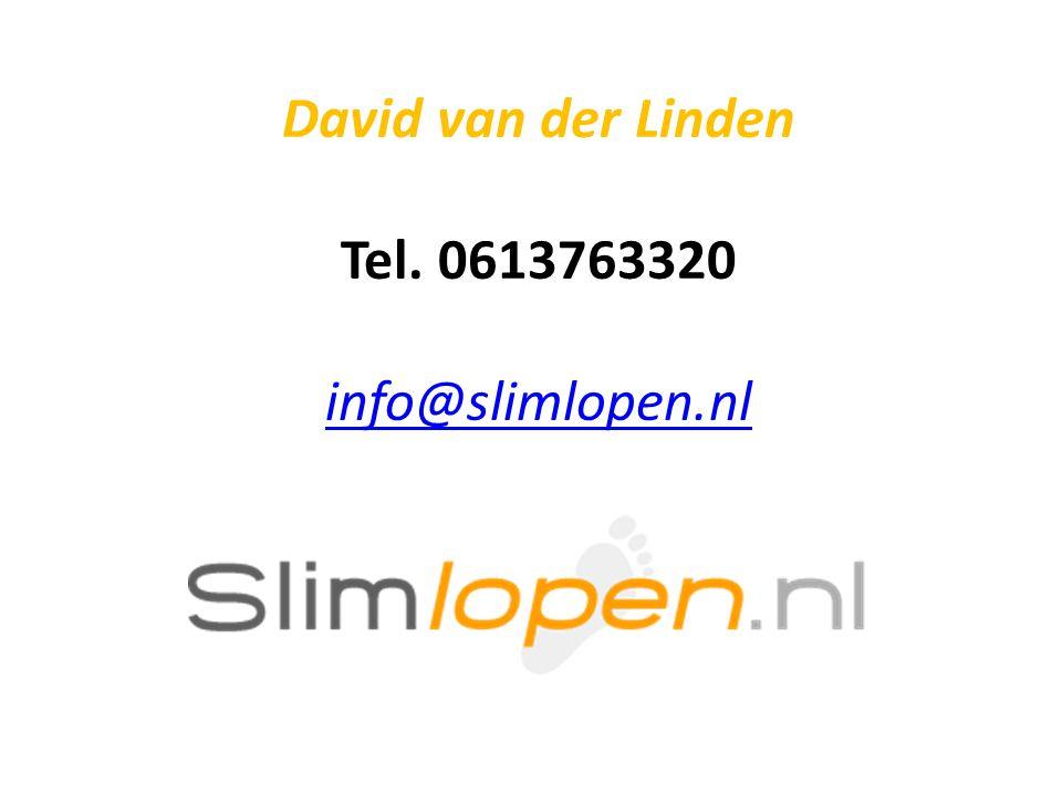 David van der Linden Tel. 0613763320 info@slimlopen.nl info@slimlopen.nl