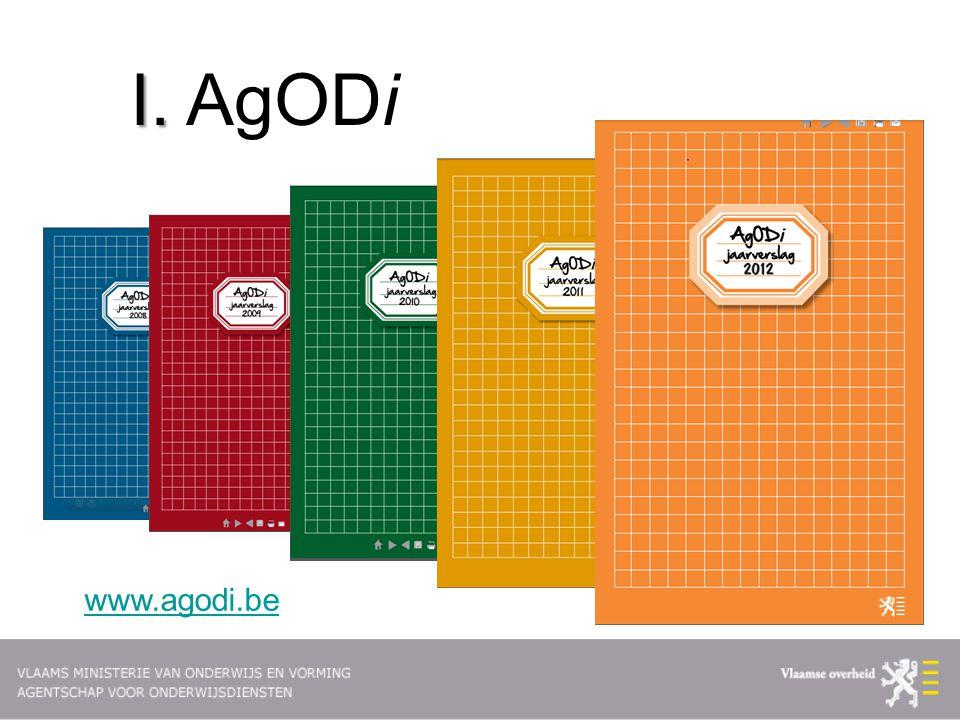 4 AgODi heeft als missie Als betrouwbare partner tussen beleid, scholen en andere actoren, bijdragen tot kwaliteitsvol onderwijs voor iedereen.