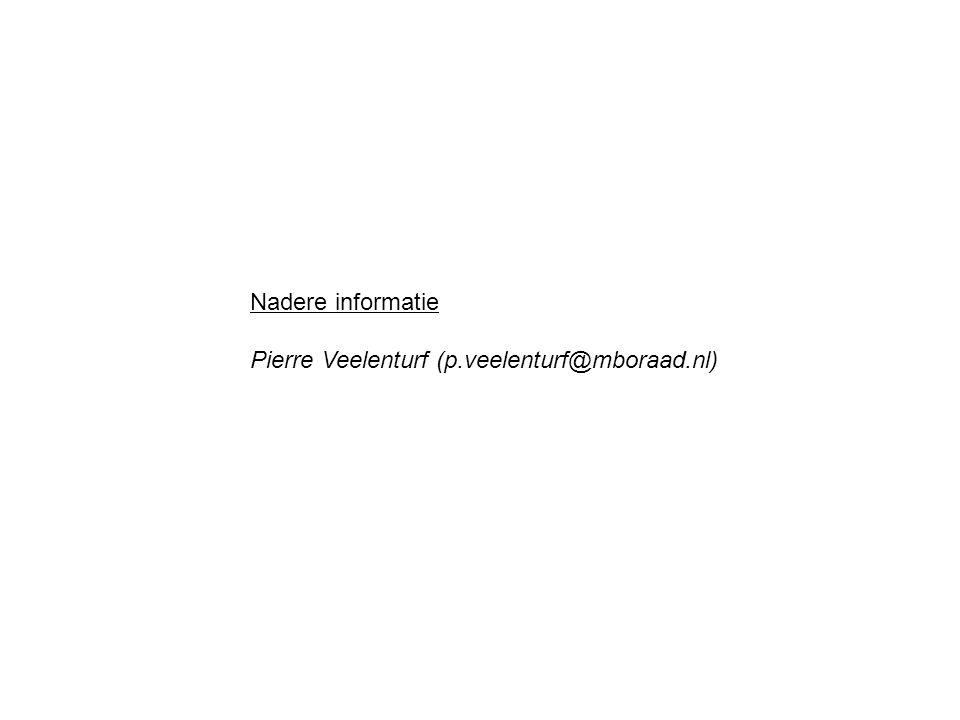 Nadere informatie Pierre Veelenturf (p.veelenturf@mboraad.nl)